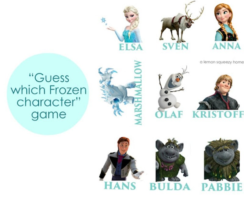 Guess the Frozen Character Game