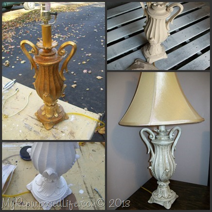My Repurposed Life-Paint an ugly gold lamp