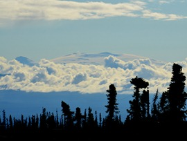 Mt Wrangell, hot and active