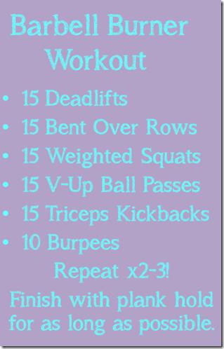 barbell burner workout