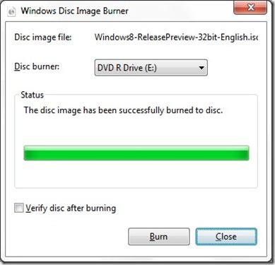 Windows Disk Image Burner