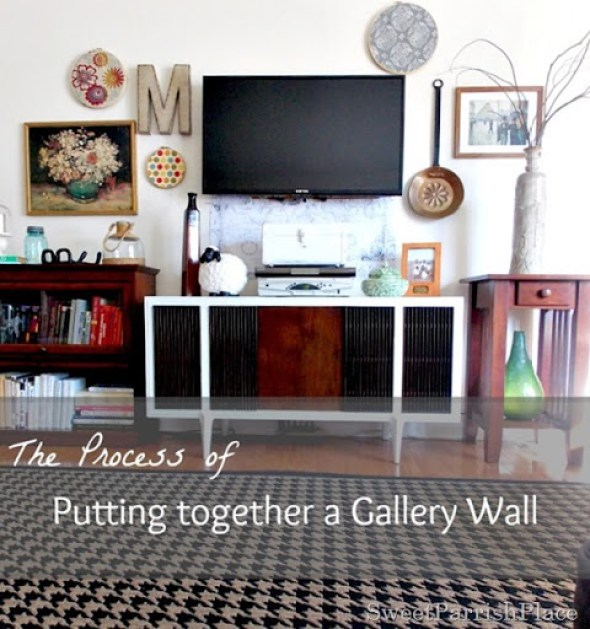 the process of putting together a gallery wall