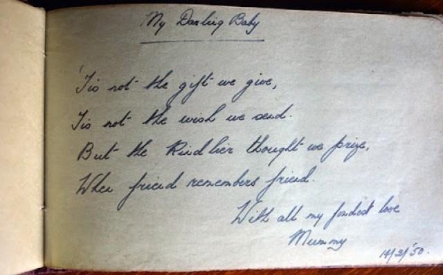 Freda Dorothys autograph to Rosemary