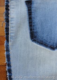 Calça bordada