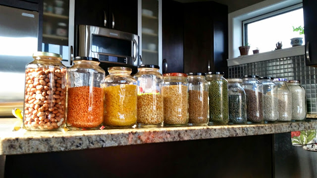 pantry organization - rainbow jars