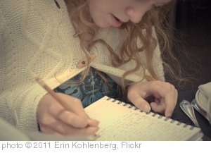 'writing in the journal' photo (c) 2011, Erin Kohlenberg - license: http://creativecommons.org/licenses/by/2.0/