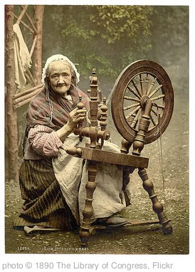 '[Irish spinner and spinning wheel. County Galway, Ireland] (LOC)' photo (c) 1890, The Library of Congress - license: http://www.flickr.com/commons/usage/