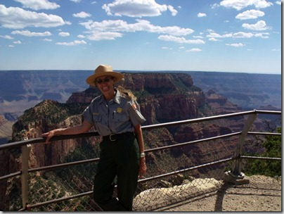 Gaelyn at Cape Royal Walhalla Plateau North Rim Grand Canyon National Park Arizona