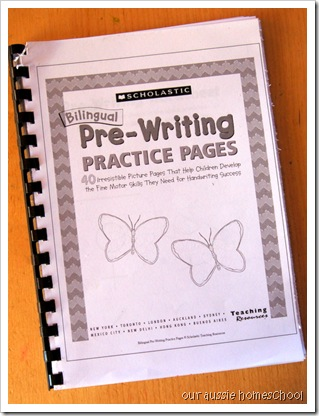 Our Aussie Homeschool ~ Pre-Writing Practice Pages