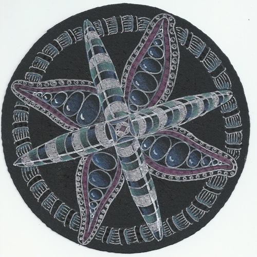 Black color zendala