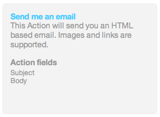 Email Channel Action