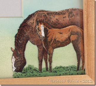horse frame gift closeup