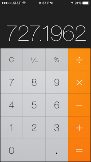 Calculator, vertical orientation