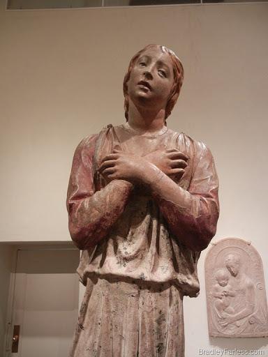 The Angel Gabriel, Sculpture, Metropolitan Museum of Art.