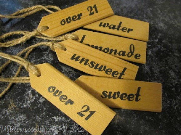 stenciled beverage tags (9)