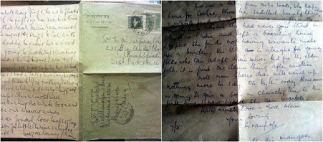 Grandparents letter to rosemary collage