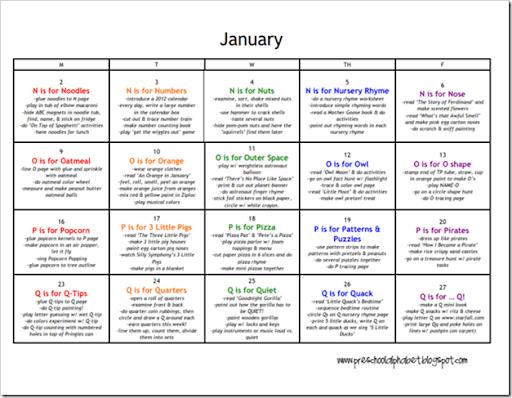 Lesson Plans January
