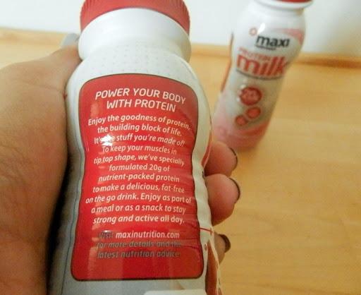 maxinutrition protein milk 4