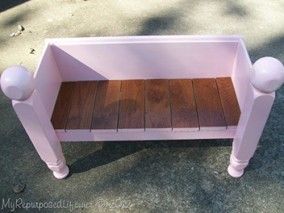 kids bench made from foot board