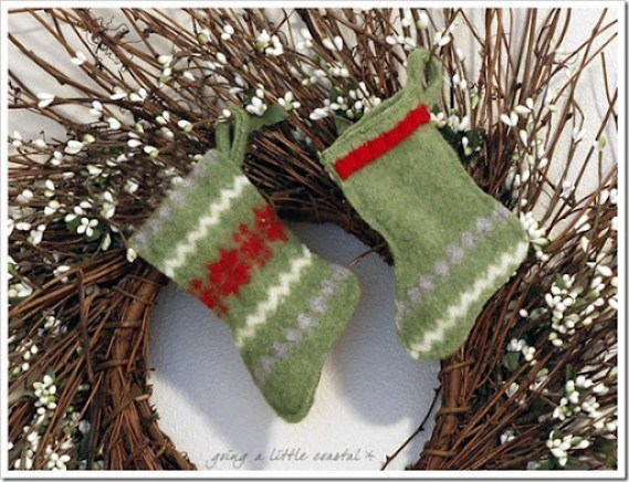 mini stockings wool sweater