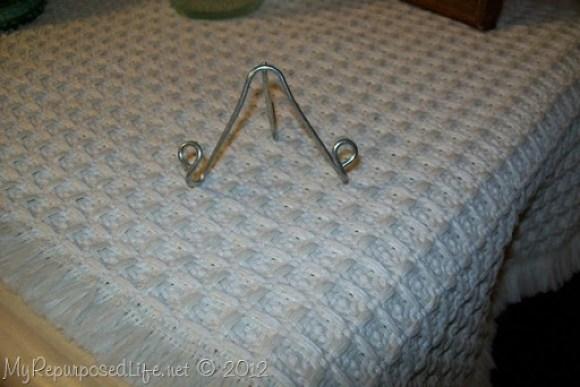 drapery hook repurposed for easels