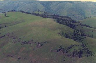 Base camp on Wapshilla Ridge Hells Canyon