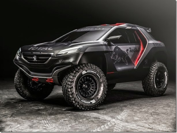 Peugeot 2008 DKR revealed in Nanterre, France on March 28th, 2014  Peugeot returns to Dakar 2015 // Flavien Duhamel/Red Bull Content Pool // P-20140414-00189 // Usage for editorial use only // Please go to www.redbullcontentpool.com for further information. //