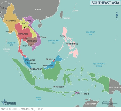 'Map of Southeast Asia' photo (c) 2009, Jeff McNeill - license: http://creativecommons.org/licenses/by-sa/2.0/