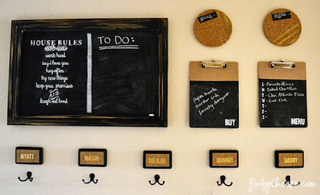 Home Command Center - Chalkboard and Gold