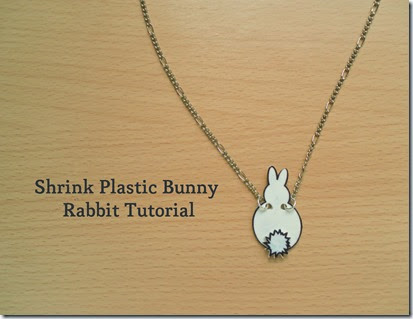 Shrink Plastic EAster Bunny Rabbit Necklace Tutorial