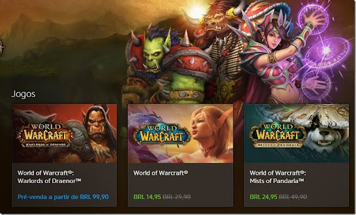 World of Warcraft: Promoção 50% de desconto