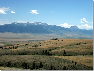 Madison River valley as viewed from west of Ennis, MT