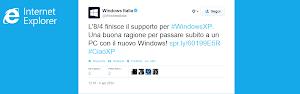 Microsoft Italia su Twitter