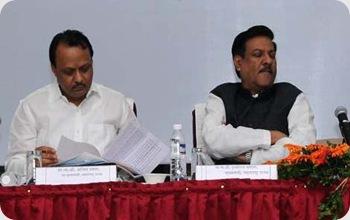 Chief Minister Prithviraj Chavan and Deputy Chief Minister Ajit Pawar