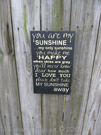 You Are My Sunshine (sign) (5)