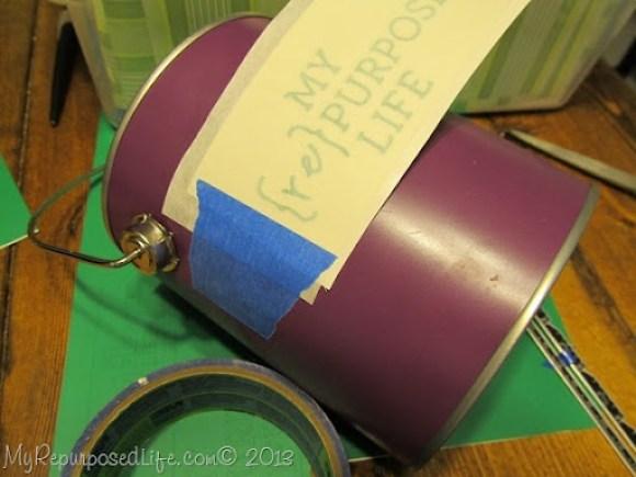 painter's tape vinyl
