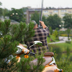 Angler with his Romet scooter (Polish Vespa).
