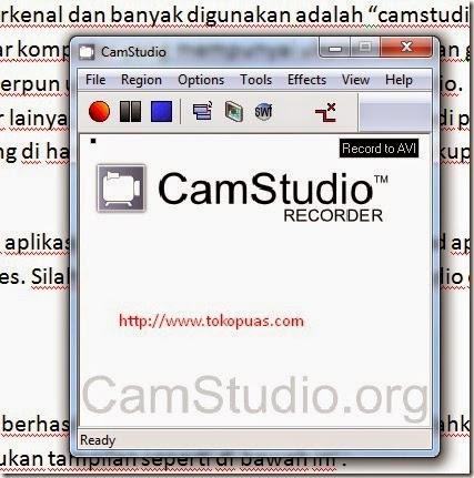 aplikasi scrren recorder terbaik camstudio