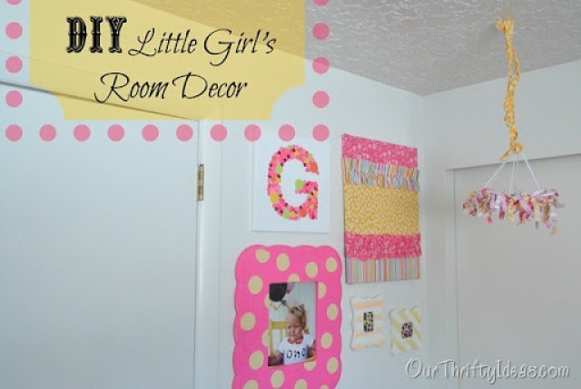 Our Thrifty Ideas | DIY Little Girl's Room Decor | #DIY #Decor #Girls