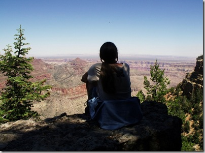 Gaelyn looking into canyon from Cape Final North Rim Grand Canyon National Park Arizona