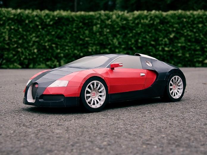 Bugatti Veyron de papel