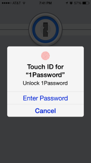 Touch ID for 1Password