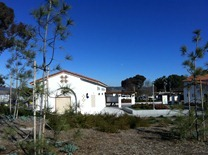 rest area at Oceanside is built to look like old California missions