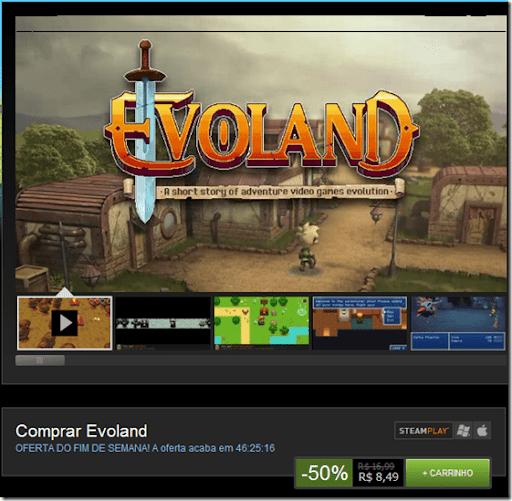 Promoção: Evoland na Steam