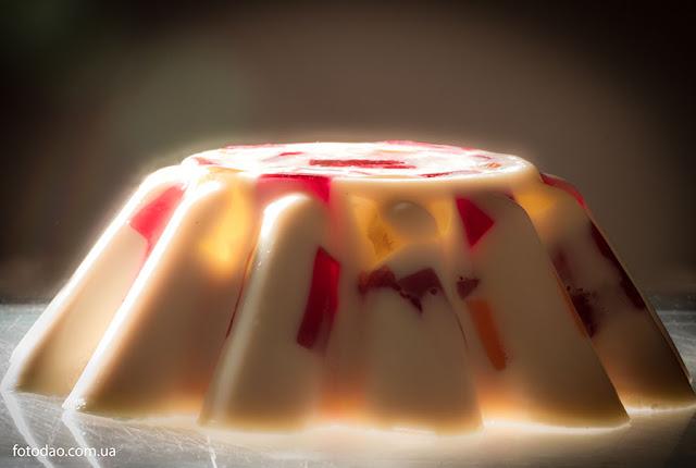"""Желейный торт """"Мраморный"""""""