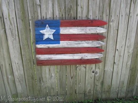 Americana Flag (Repurposed Fence) (24)