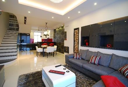 sillon-gris-decoracion-apartamento-moderno