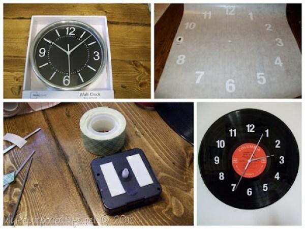 LP Record Clock