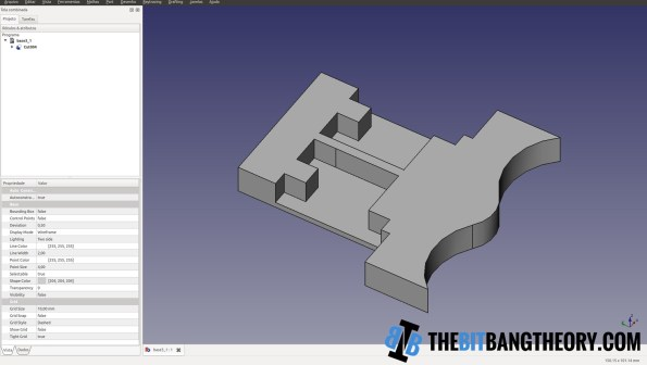 visualização do Freecad