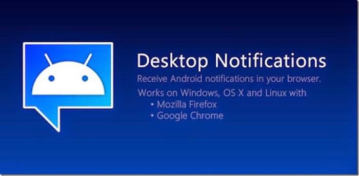 cara menampilkan notifikasi android di browser komputer
